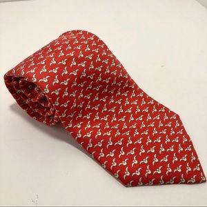 100% silk Hermès neck tie with birds